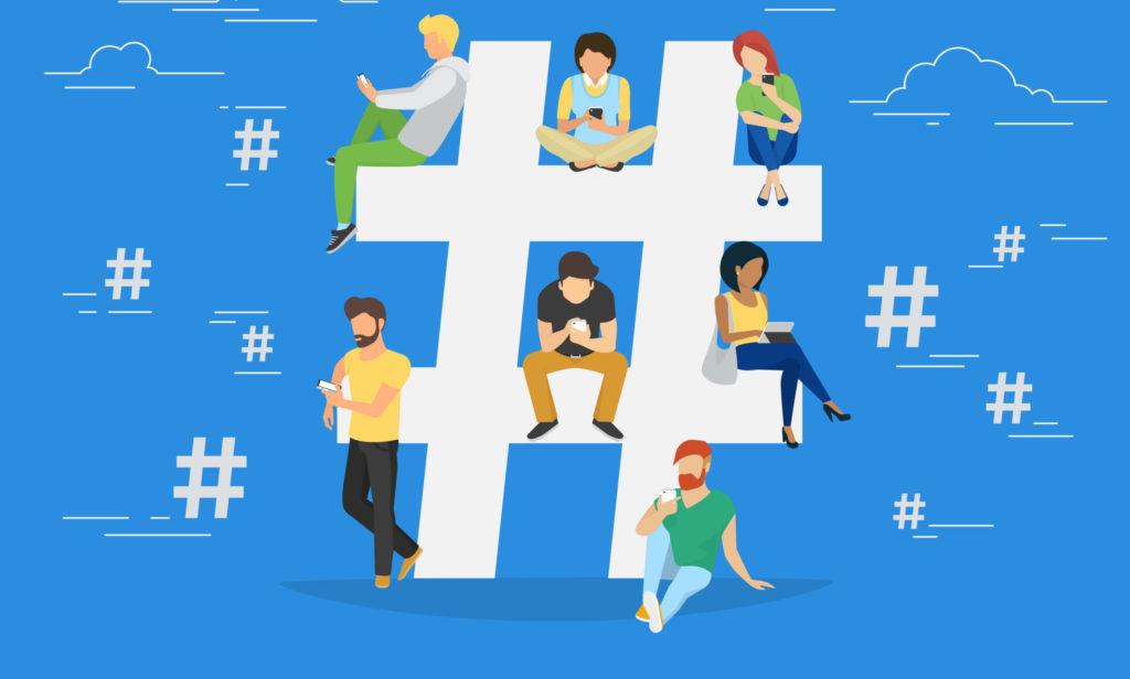 people on hashtag symbol