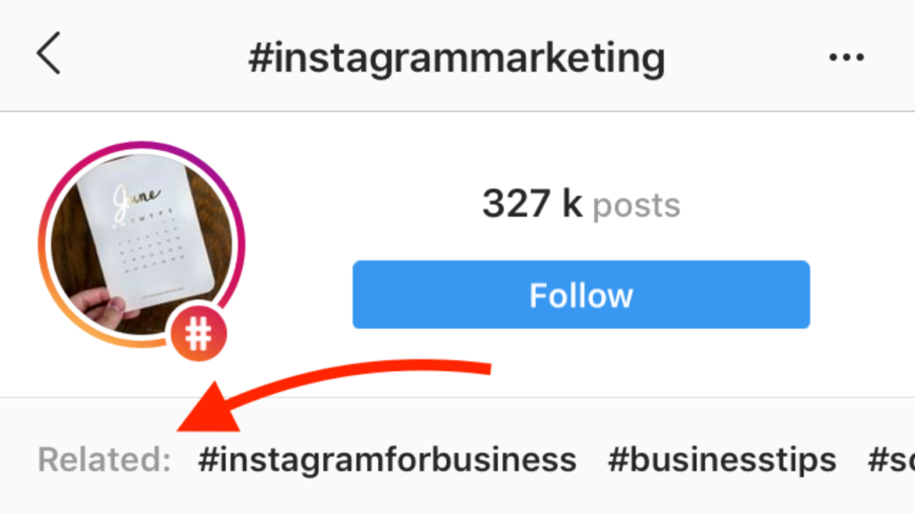 Instagram related Hashtags