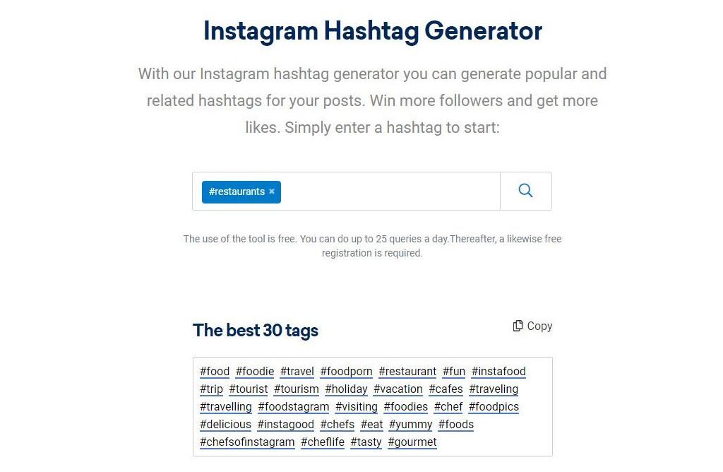 instagram hashtag gererator
